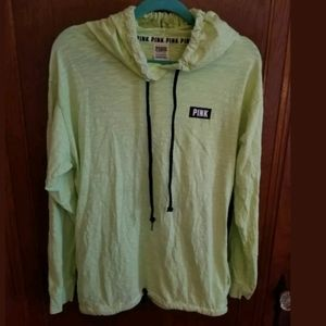 PINK Victoria's Secret Green Hoodie Size Small